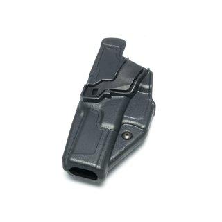 Radar Holster für Glock 17/19, Kunststoff, taktischer Einsatz-Holster, Index Finger und Retention Sicherung links