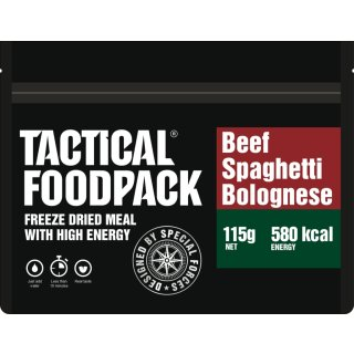 Tactical Food Pack Spaghetti mit Rindfleisch in Tomatensauce [Energie: 580 kcal]