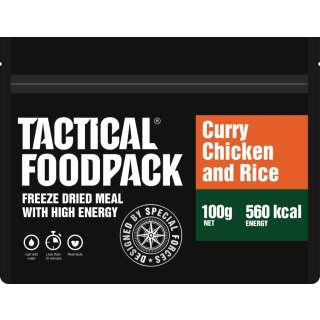 Tactical Food Pack Hähnchencurry mit Reis [Energie: 560 kcal]