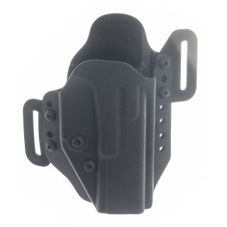 Radar Holster für Glock + taktisches Lichtmodul GTL, Kydex mit Retention Sicherung, Größe G17