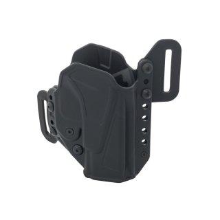 Radar Holster für Glock, Kydex mit Retention Sicherung, Größe G19/17 RECHTS