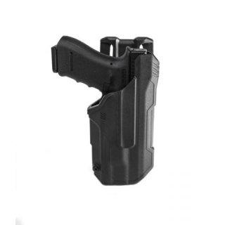 Blackhawk T-Serie Level2 Duty Holster für Streamlight TLR 1/2 f. Glock 17/19/22/23/31/32/45 Hip Carry right, schwarz, rechts