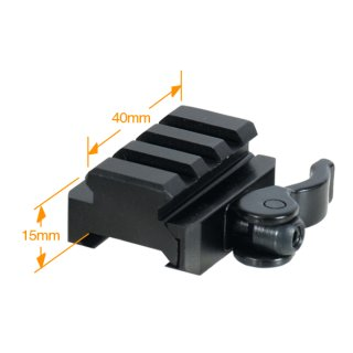 UTG 3-Slot QD Lever Mount Adaptar and Riser, Medium Profile