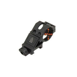 25.4mm Angled Offset Low Profile Ring Mount
