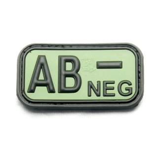 Bloodtype Rubber Patch AB Neg FOREST