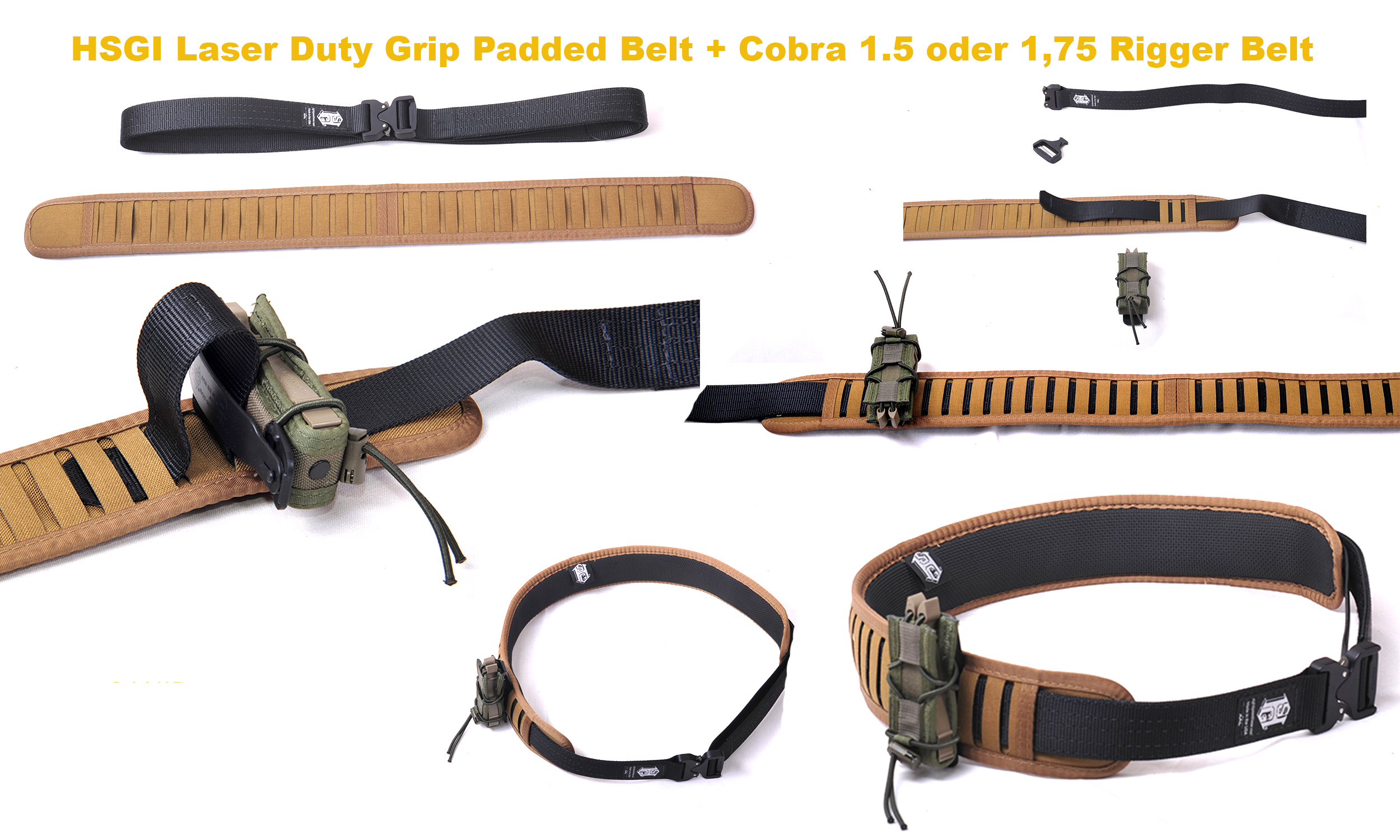 High Speed Gear Laser Duty Grip Padded Belt